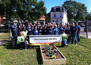 Blue Cross Volunteers at Roxbury Y