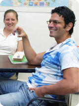 Student in ILC Class