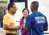 Personal Trainer with Members