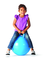 Girl with Jumping Ball